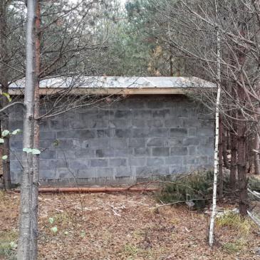 Первое строение на территории лагеря!