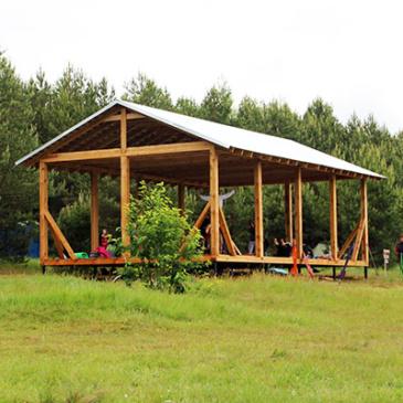 Построены крытые площадки для занятий